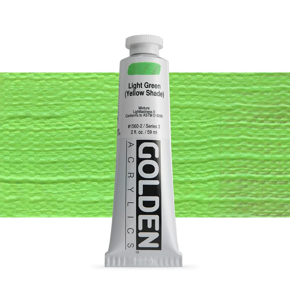 Golden : Heavy Body Acrylic Paint : 60ml : Light Green Yellow Shade