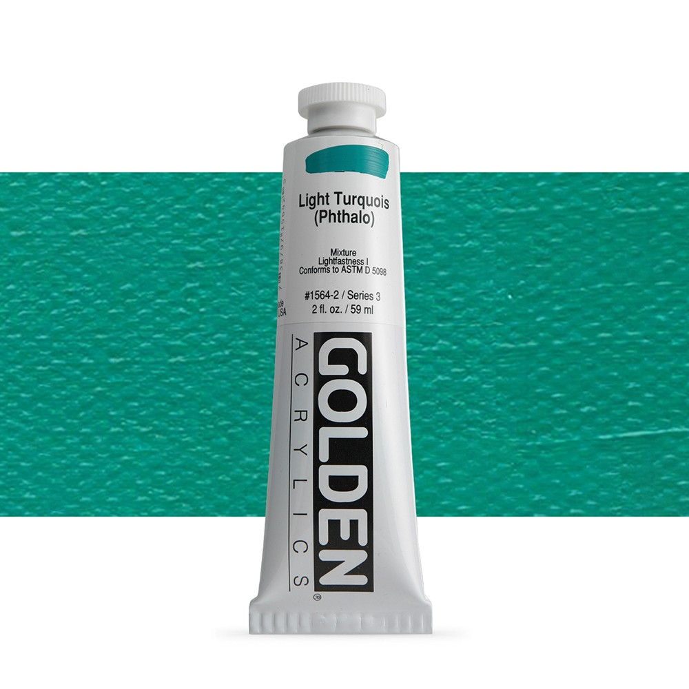Golden : Heavy Body Acrylic Paint : 60ml : Light Turquoise Phthalo