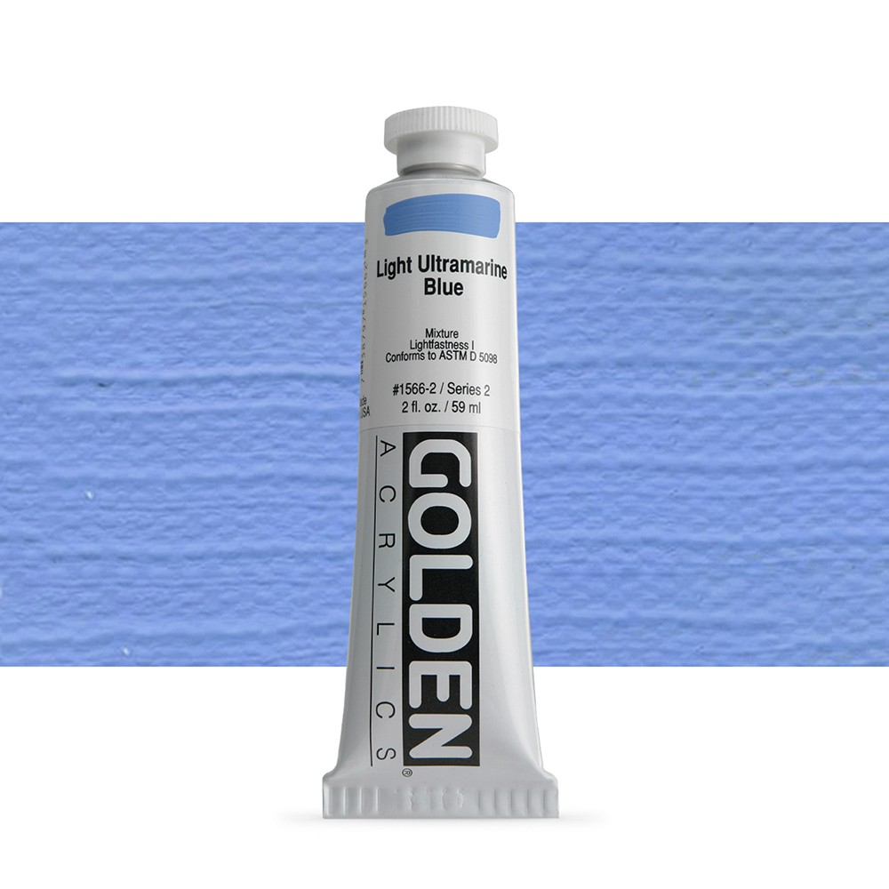 Golden : Heavy Body Acrylic Paint : 60ml : Light Ultramarine Blue