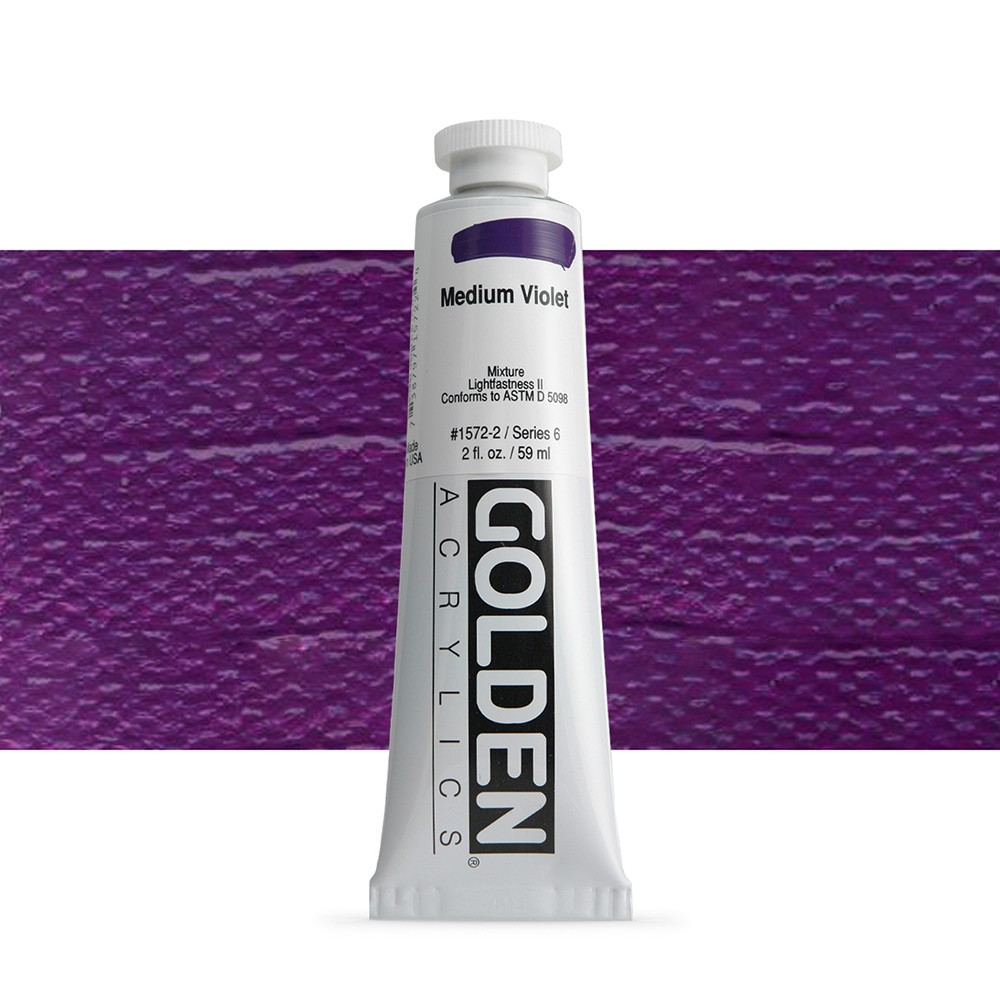 Golden : Heavy Body Acrylic Paint : 60ml : Medium Violet