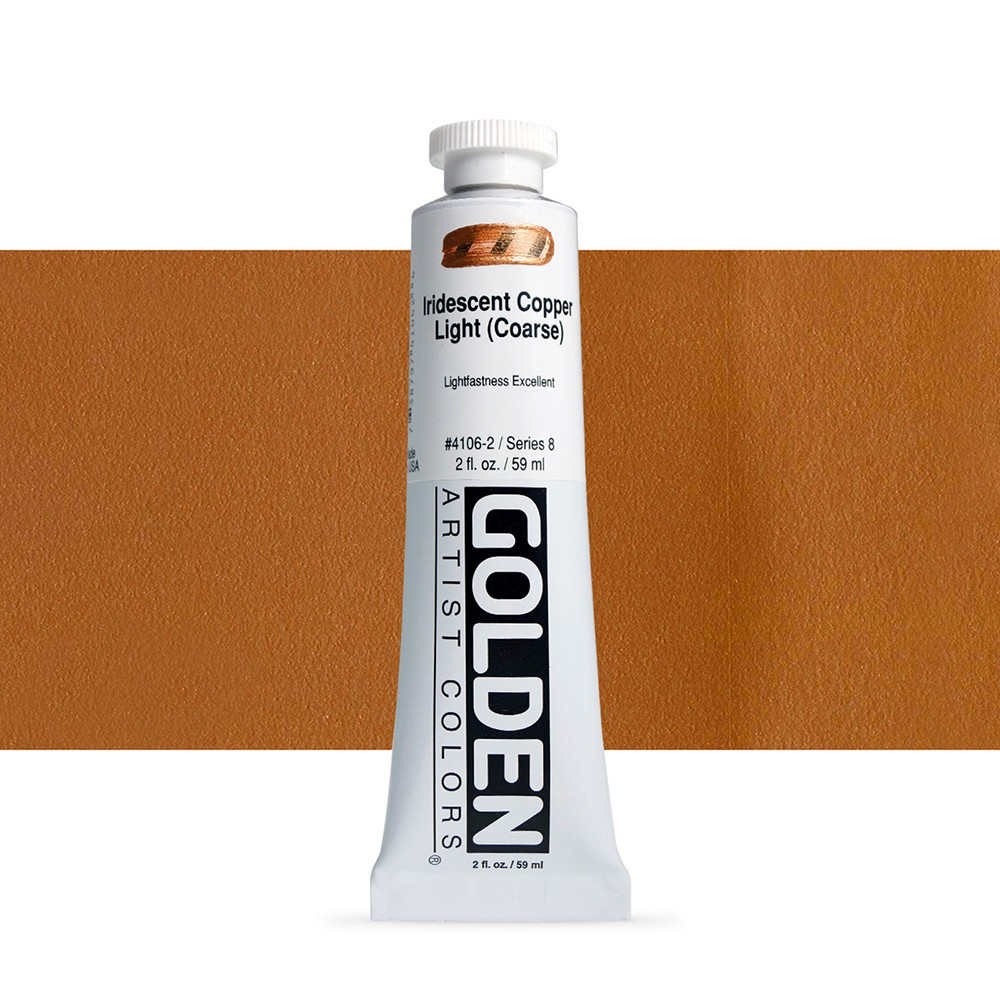 Golden : Heavy Body Acrylic Paint : 60ml : Copper Light Coarse Iridescent