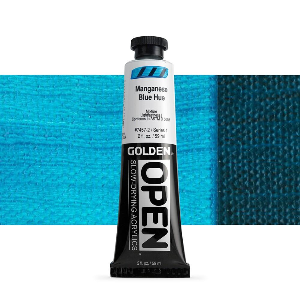 Golden : Open : Slow Drying Acrylic Paint : 59ml : Manganese Blue Hue I
