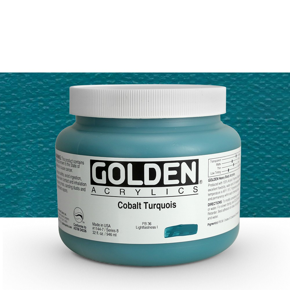 Golden : Heavy Body Acrylic Paint : 946ml : Cobalt Turquoise