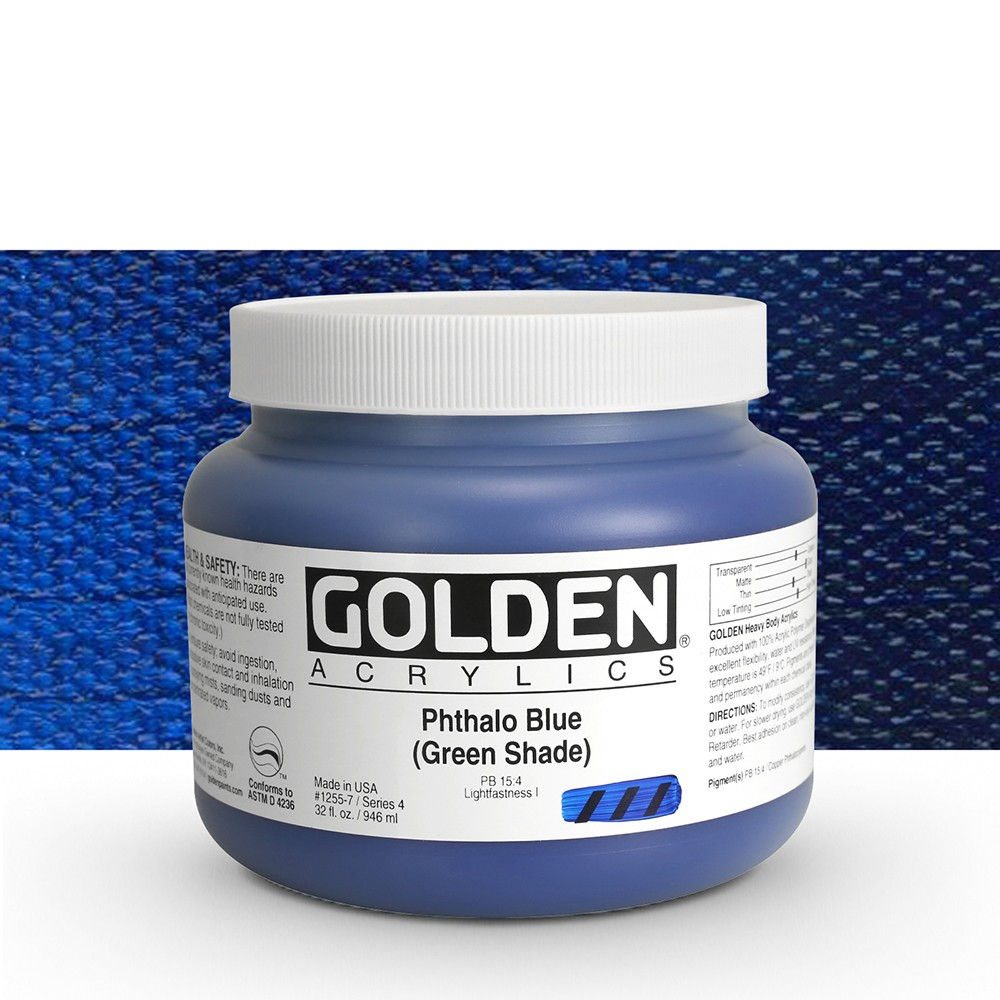 Golden : Heavy Body Acrylic Paint : 946ml : Phthalo Blue Green Shade