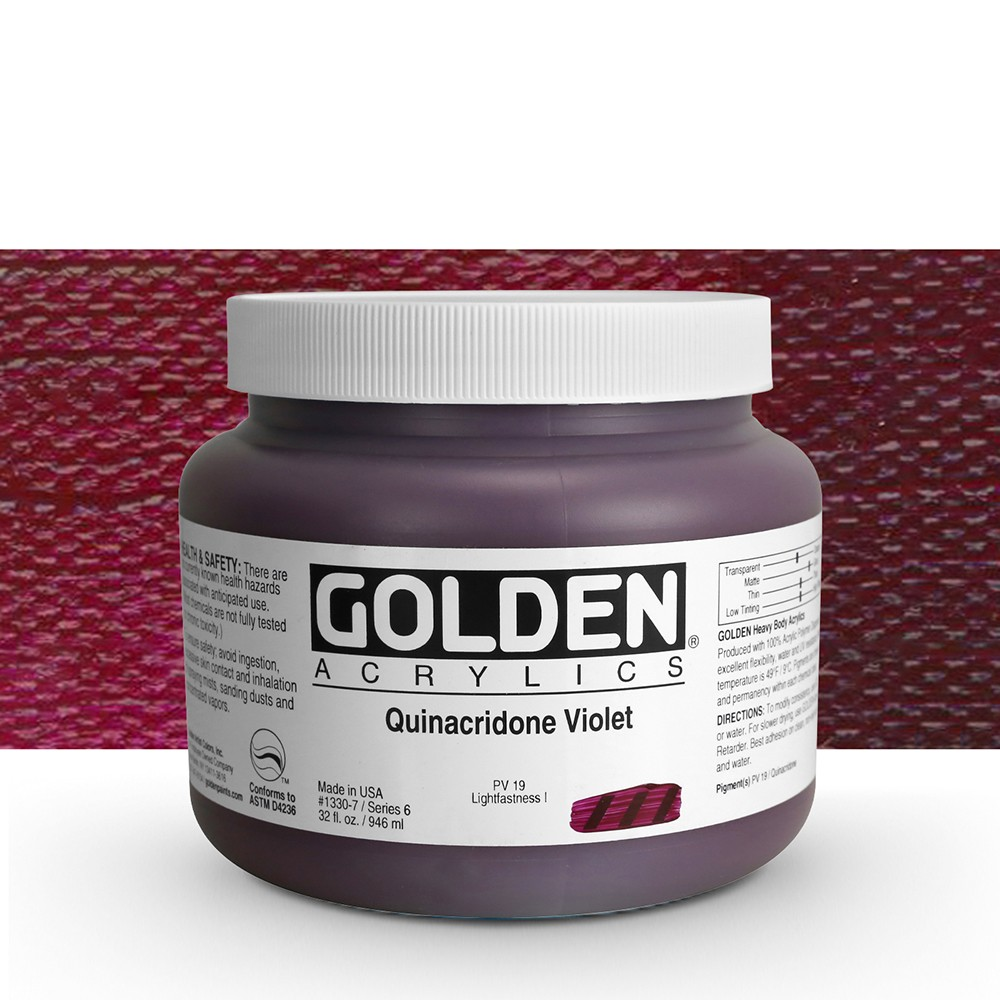 Golden : Heavy Body Acrylic Paint : 946ml : Quinacridone Violet : Please allow an extra week for delivery