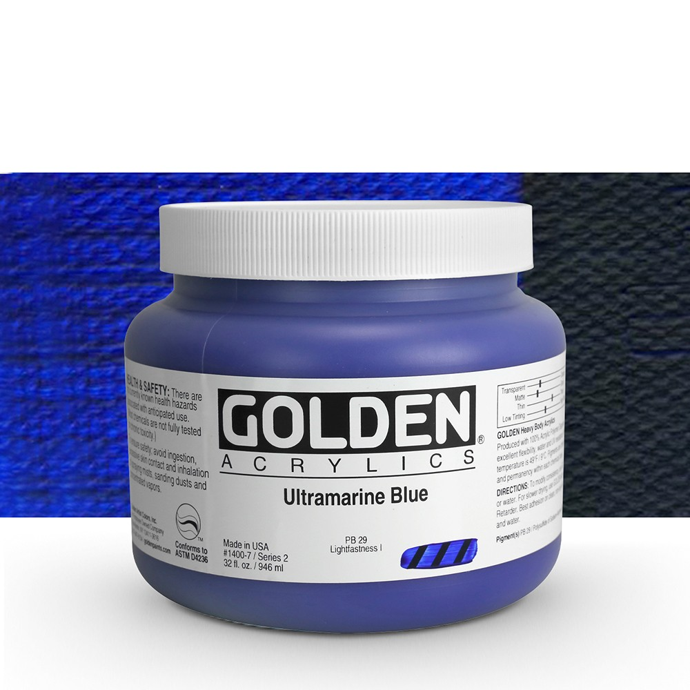 Golden : Heavy Body Acrylic Paint : 946ml : Ultramarine Blue