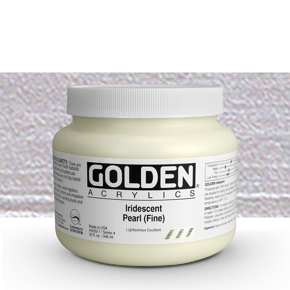 Golden : Heavy Body Acrylic Paint : 946ml : Pearl Fine Iridescent