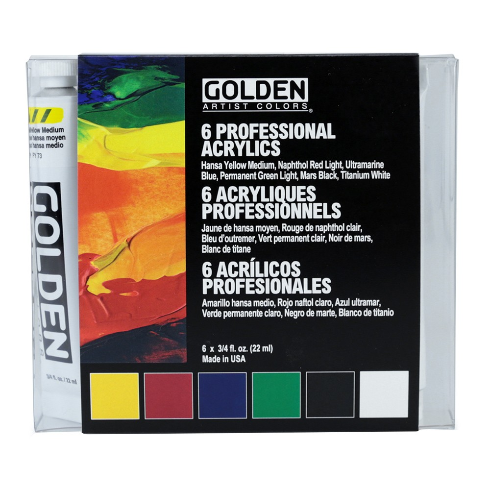 Golden : Heavy Body Acrylic Paint : Intro Set : 6x22ml