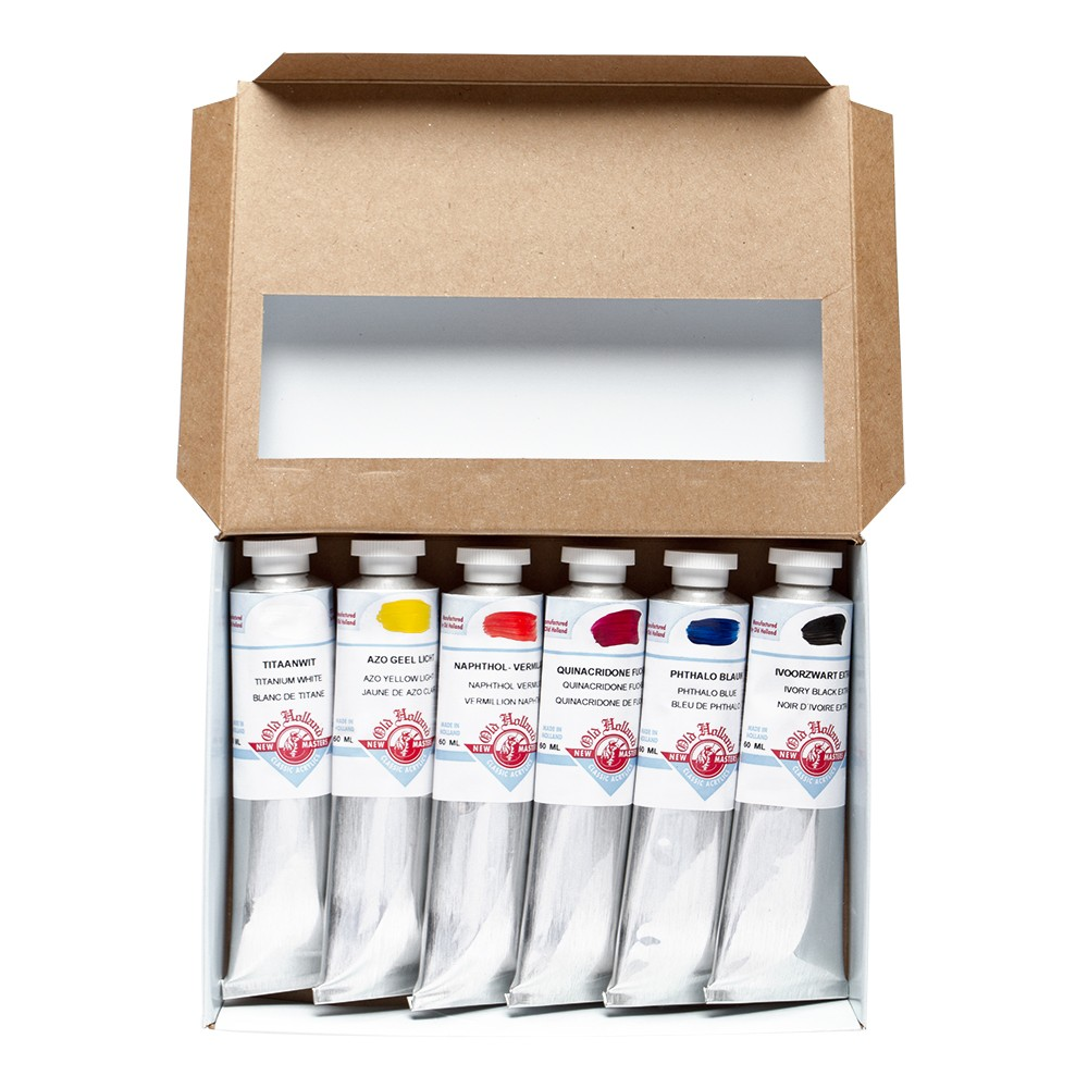 OLD HOLLAND : NEW MASTERS ACRYLIC PAINT : INTRO SET 6X60ML