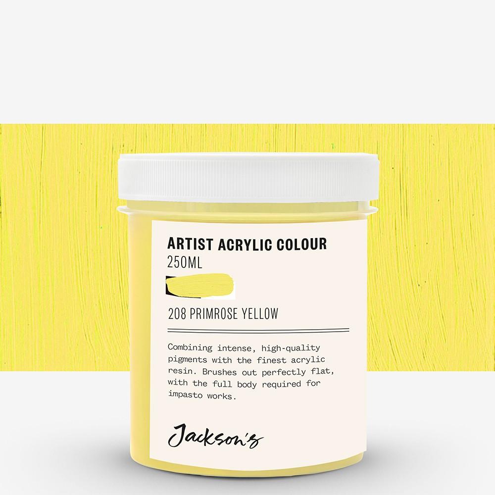 Jackson's : Artist Acrylic Paint : 250ml : Primrose Yellow