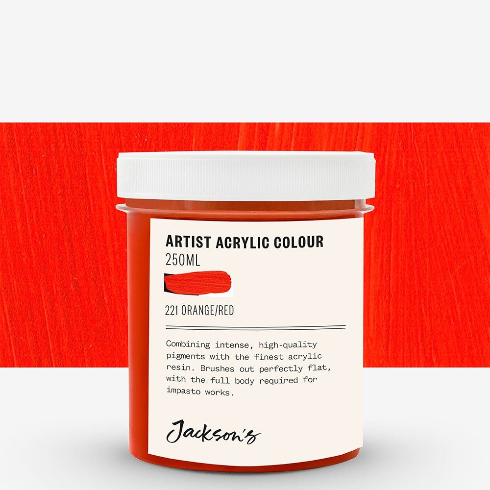 Jackson's : Artist Acrylic Paint : 250ml : Orange/Red