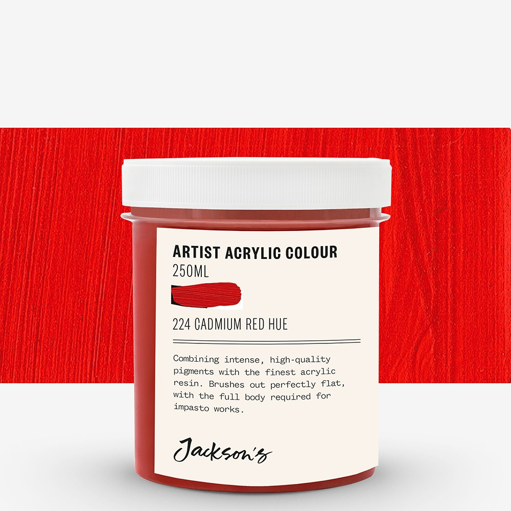 Jackson's : Artist Acrylic Paint : 250ml : Cadmium Red Hue