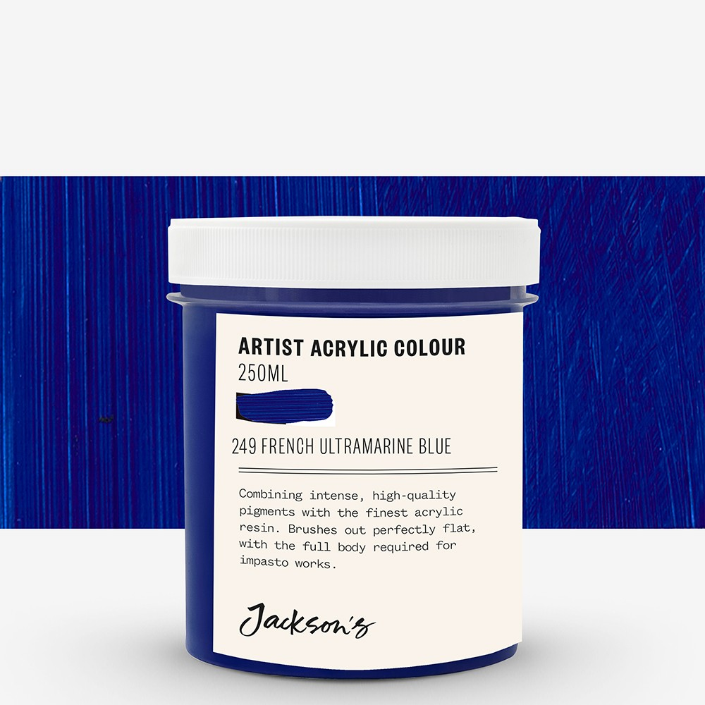 Jackson's : Artist Acrylic Paint : 250ml : French Ultramarine Blue