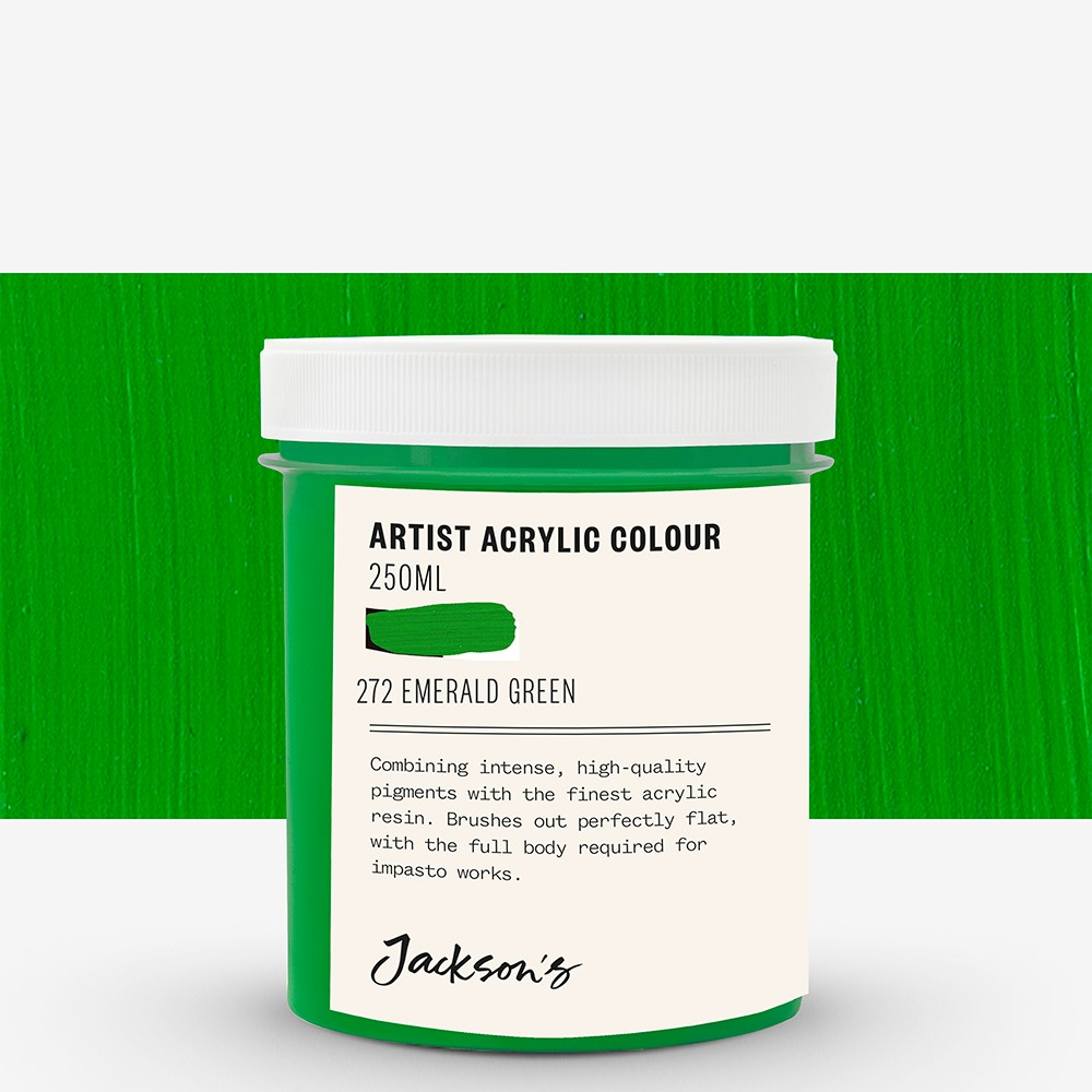 Jackson's : Artist Acrylic Paint : 250ml : Emerald Green