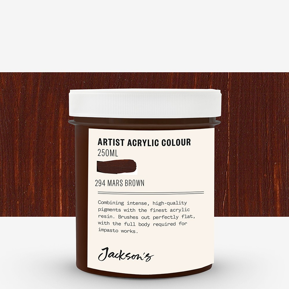 Jackson's : Artist Acrylic Paint : 250ml : Mars Brown