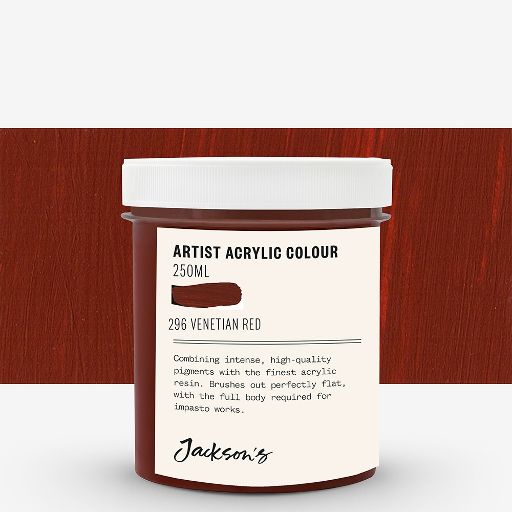 Jackson's : Artist Acrylic Paint : 250ml : Venetian Red