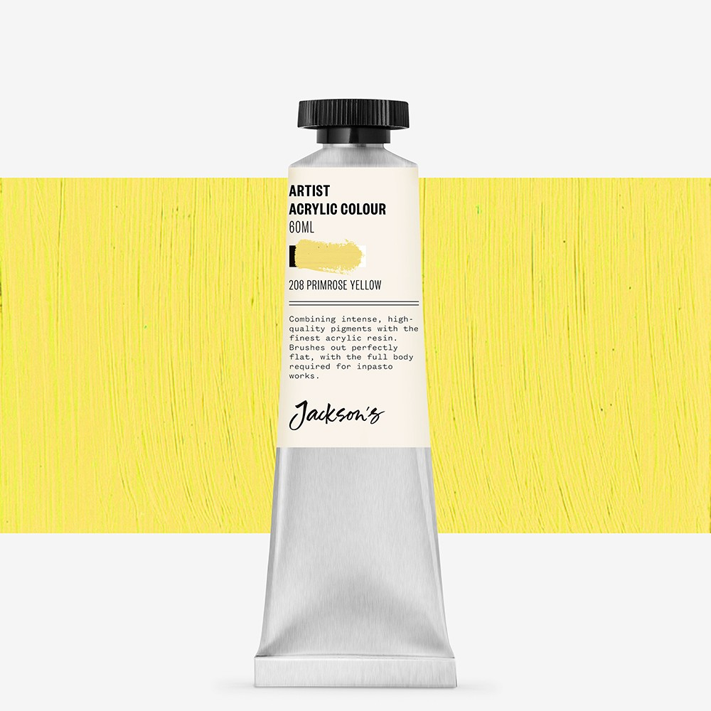 Jackson's : Artist Acrylic Paint : 60ml : Primrose Yellow