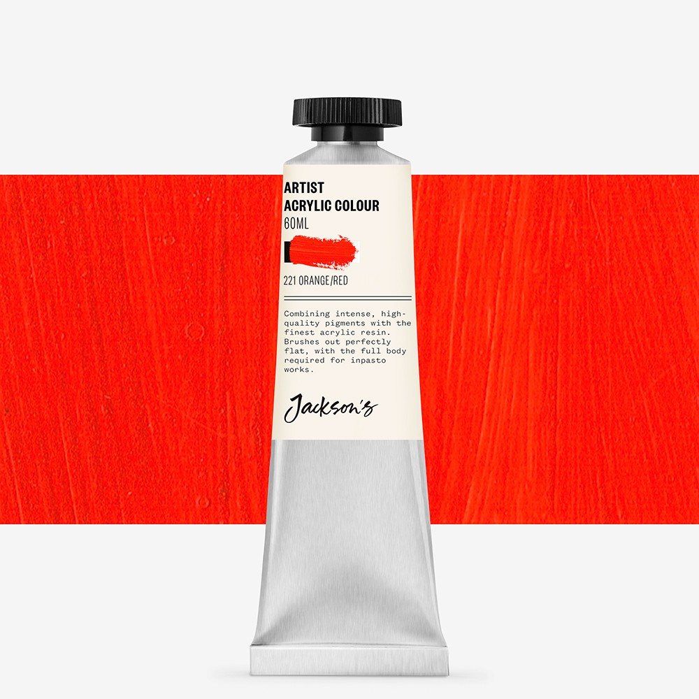 Jackson's : Artist Acrylic Paint : 60ml : Orange/Red