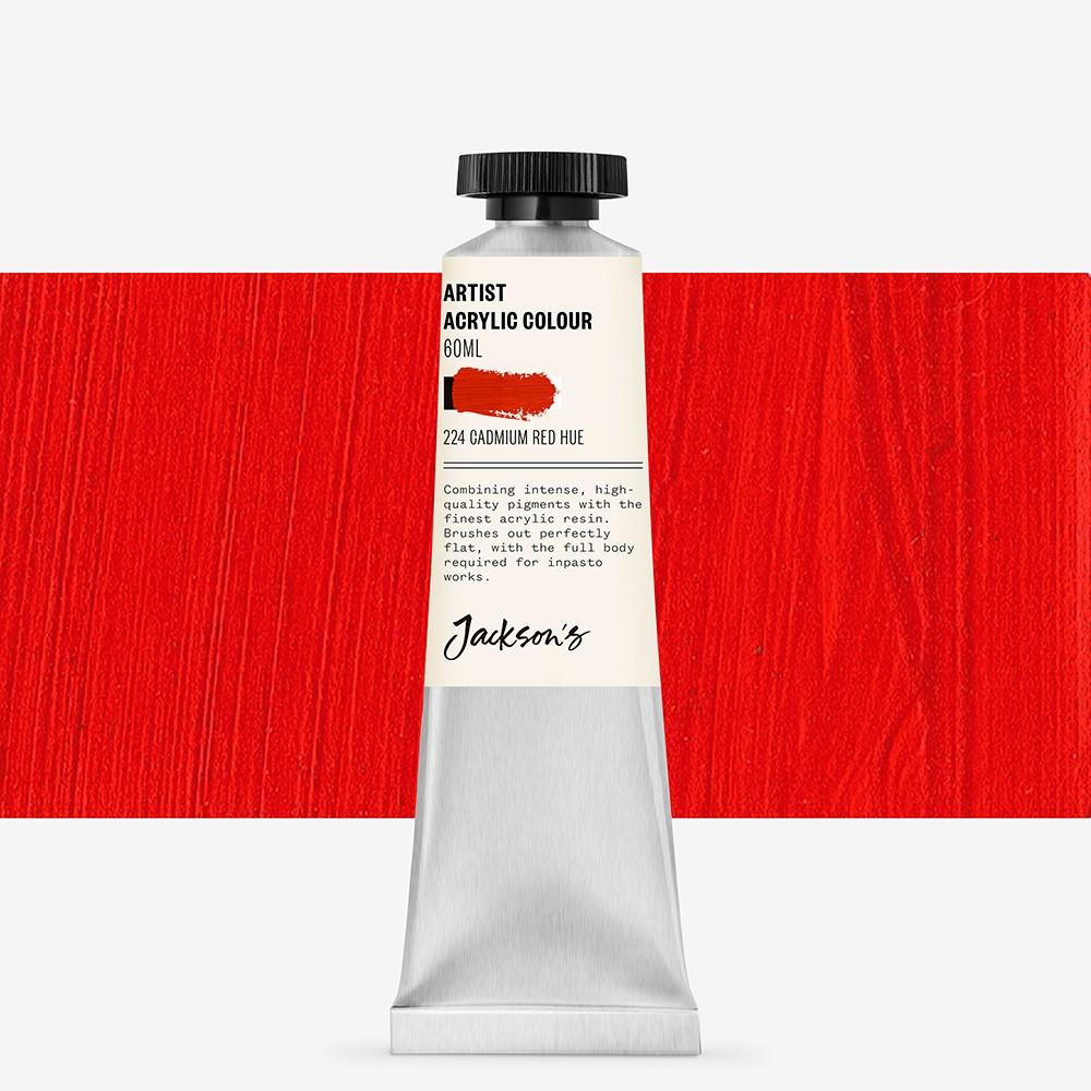 Jackson's : Artist Acrylic Paint : 60ml : Cadmium Red Hue