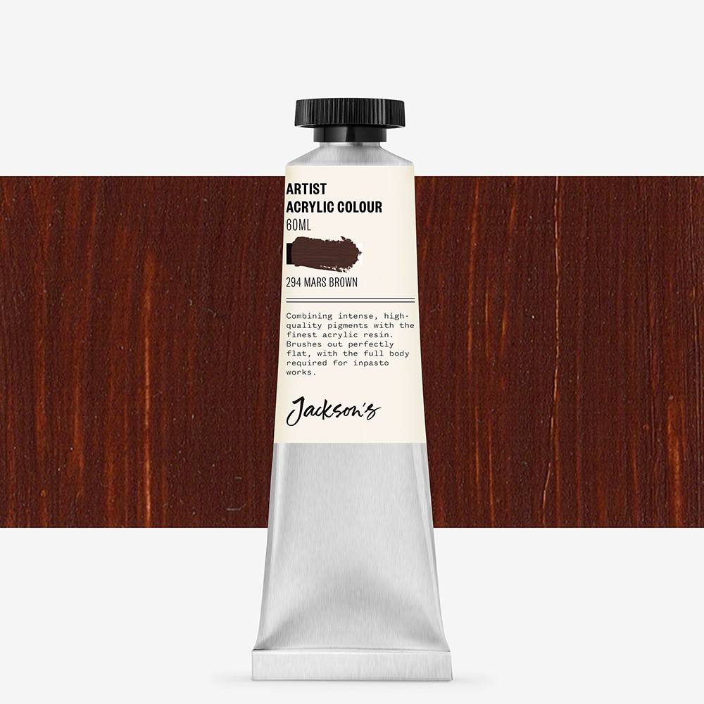 Jackson's : Artist Acrylic Paint : 60ml : Mars Brown