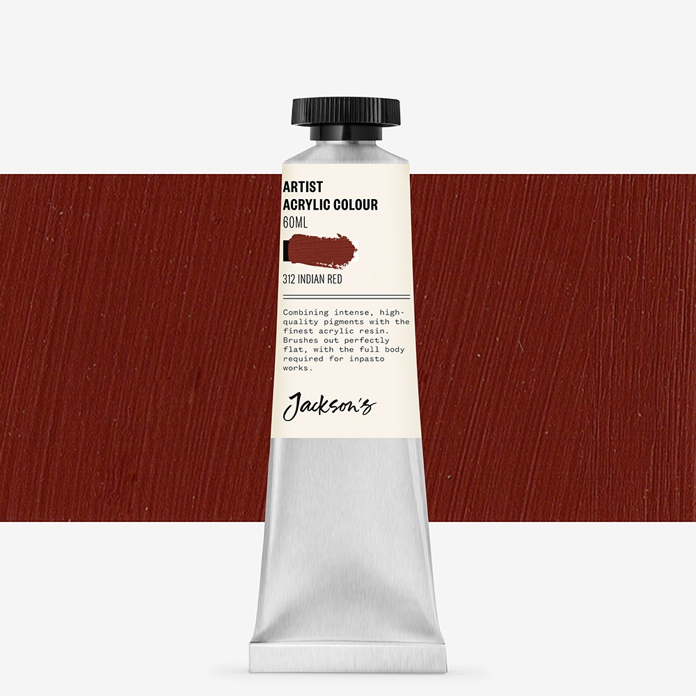 Jackson's : Artist Acrylic Paint : 60ml : Indian Red