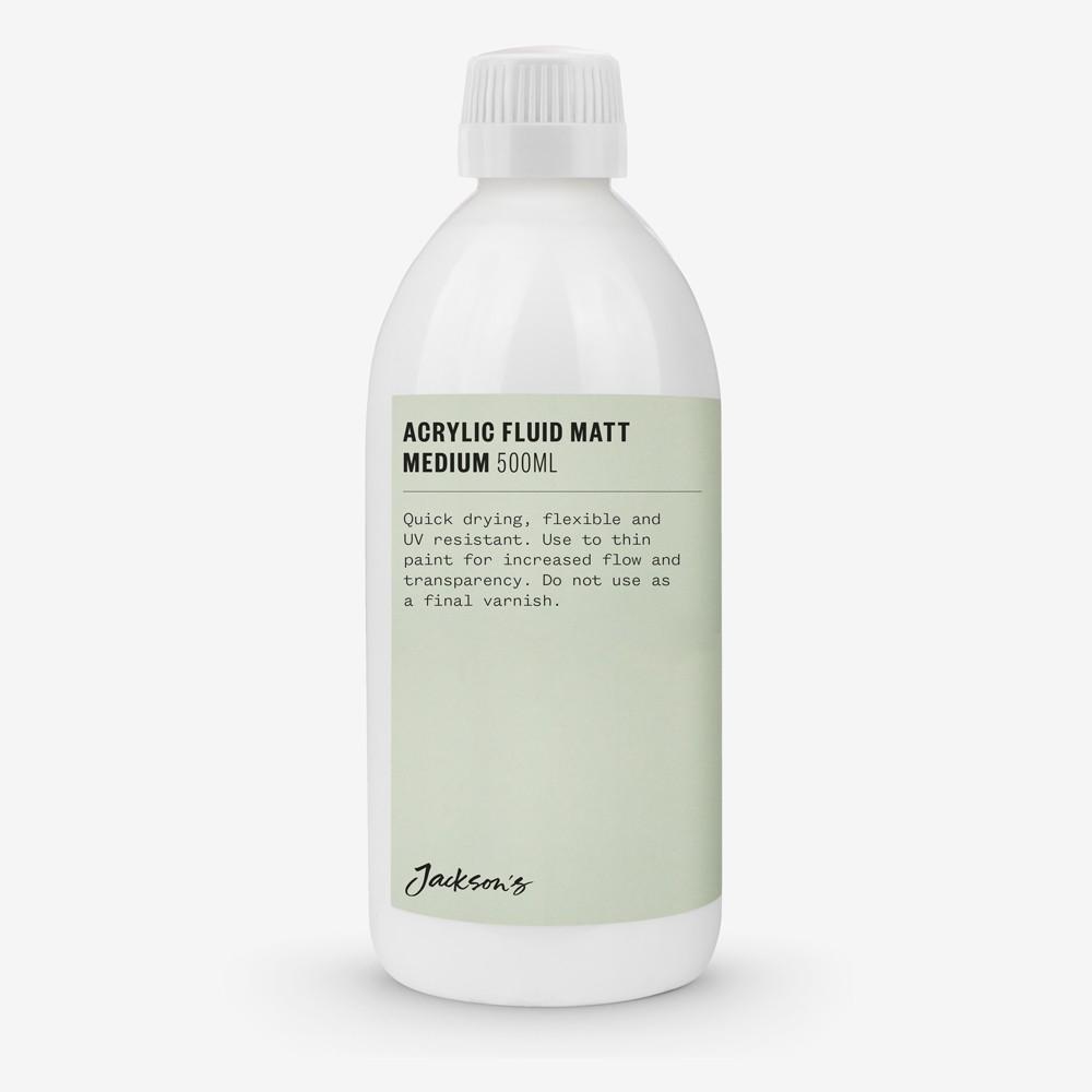 Jackson's : Acrylic Fluid Matt Medium : 500ml