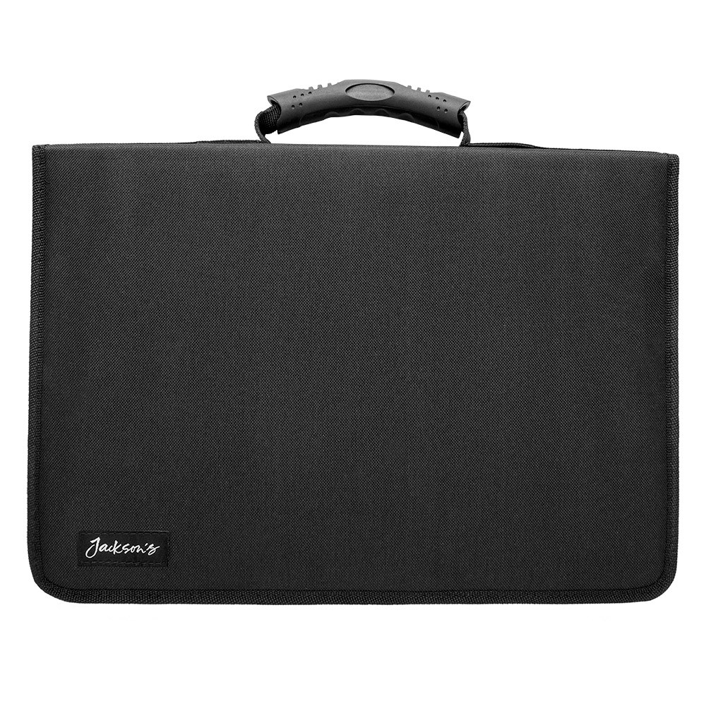 Jackson's : 120 Pencil Case : Black Nylon : Holds 120 Standard Pencils