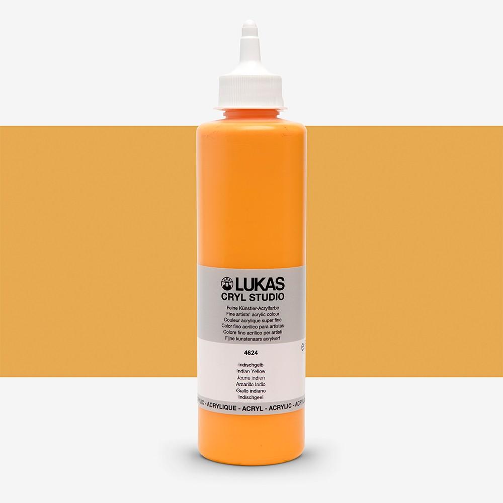Lukas : Cryl Studio : Acrylic Paint : 500ml : Indian Yellow