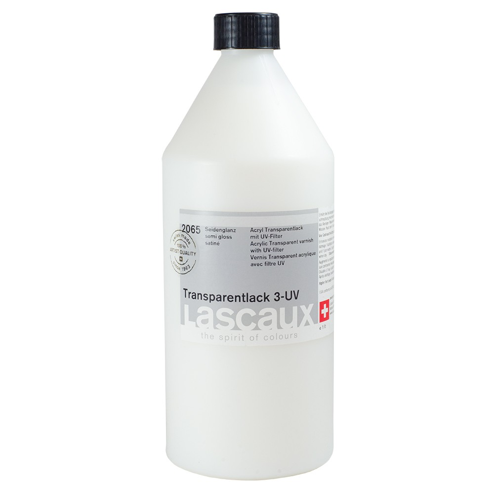 Lascaux : Transparent UV Protect Varnish 3 : 1 Litre : Semi-Gloss