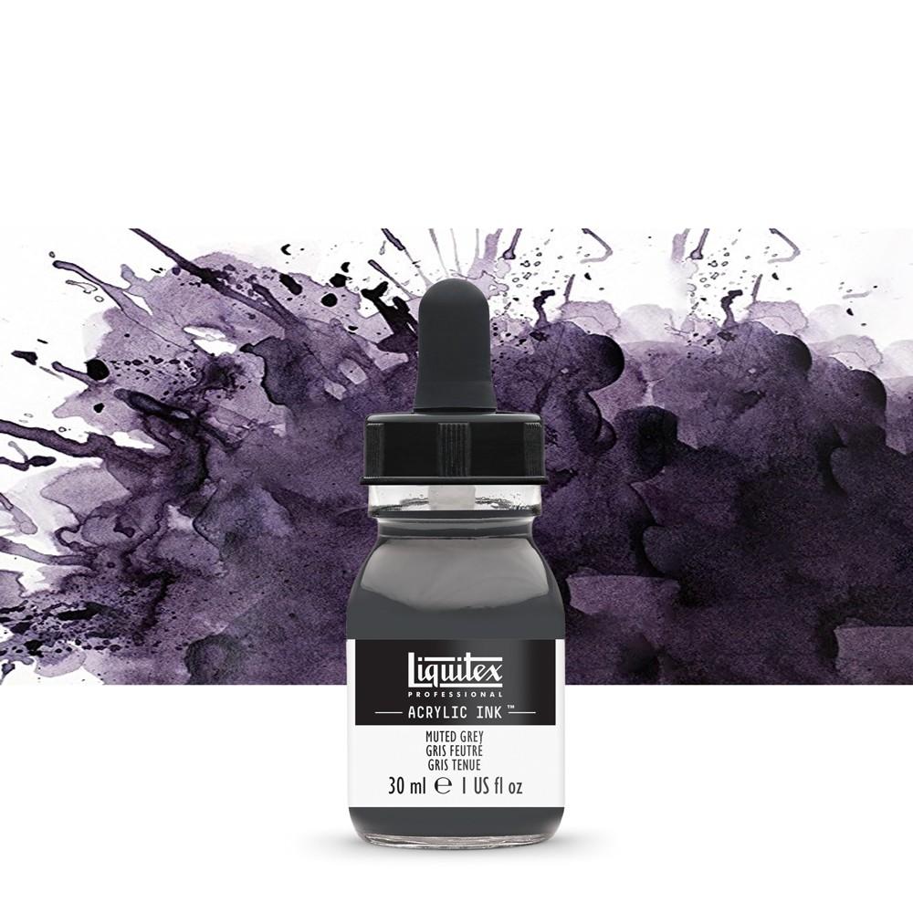 Liquitex : Professional : Acrylic Ink : 30ml : Muted Grey