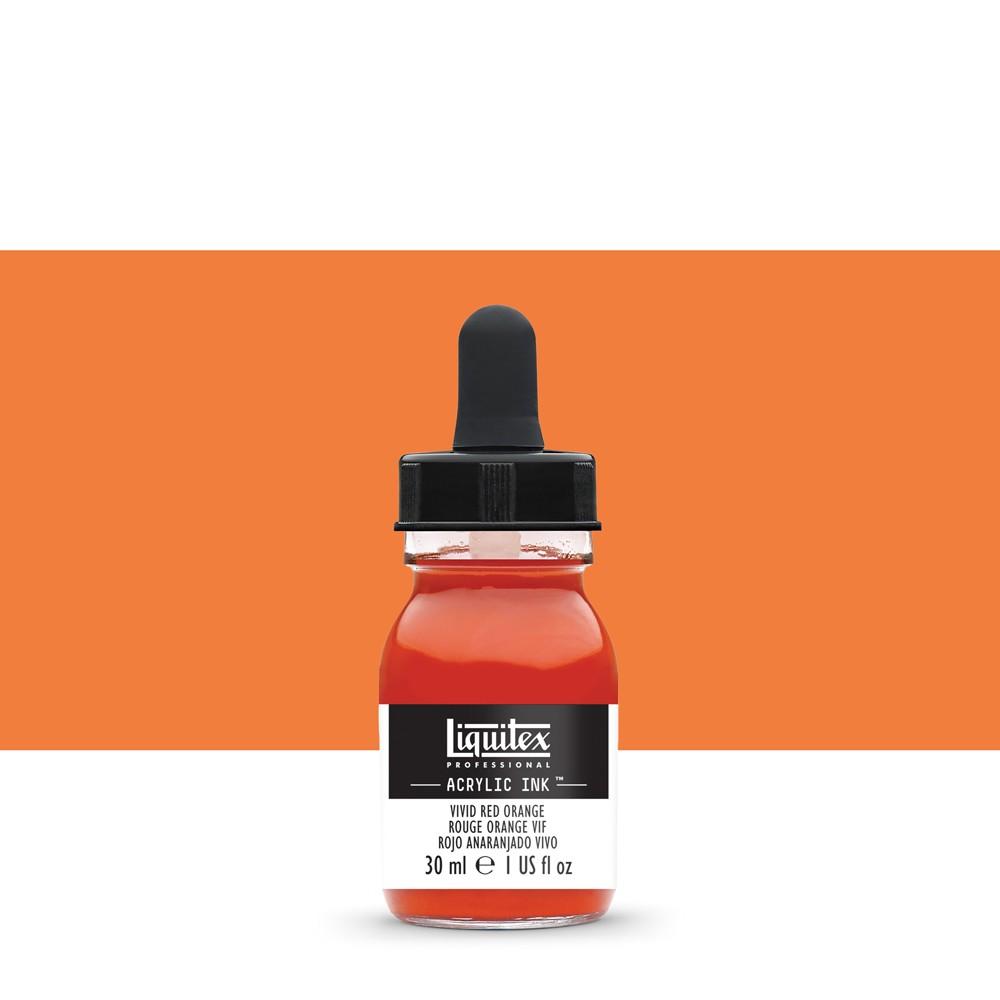 Liquitex : Professional : Acrylic Ink : 30ml : Vivid Red Orange