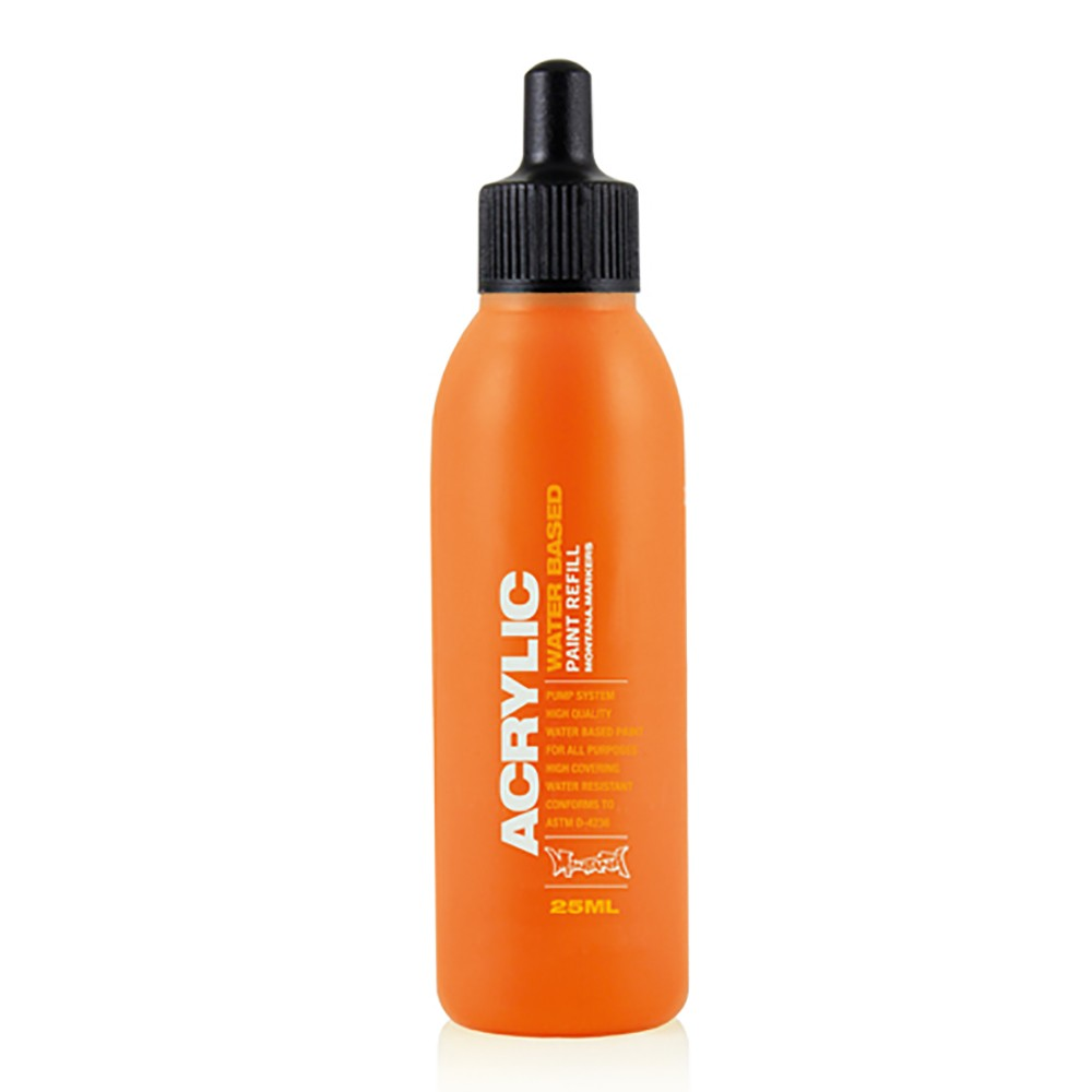 Montana : Acrylic : Refill : 25ml : Shock Orange Dark
