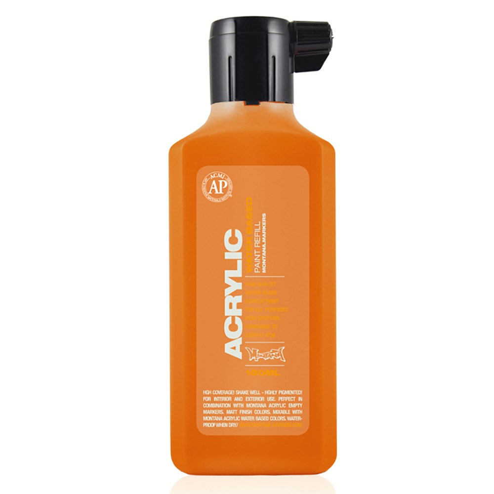 Montana : Acrylic : Refill : 180ml : Shock Orange