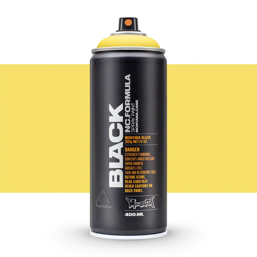 Montana : Black : 400ml : Easter Yellow : Ship By Road Only