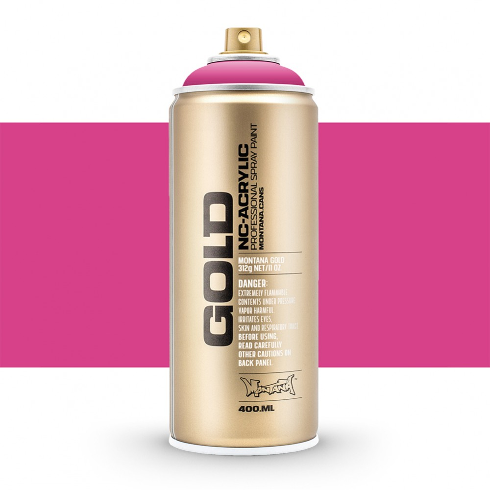 Montana : Gold : 400ml : Pink Pink : Opaque : By Road Parcel Only