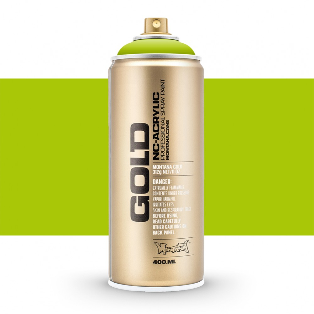 Montana : Gold : 400ml : Lime : Opaque : (Road Shipping Only)