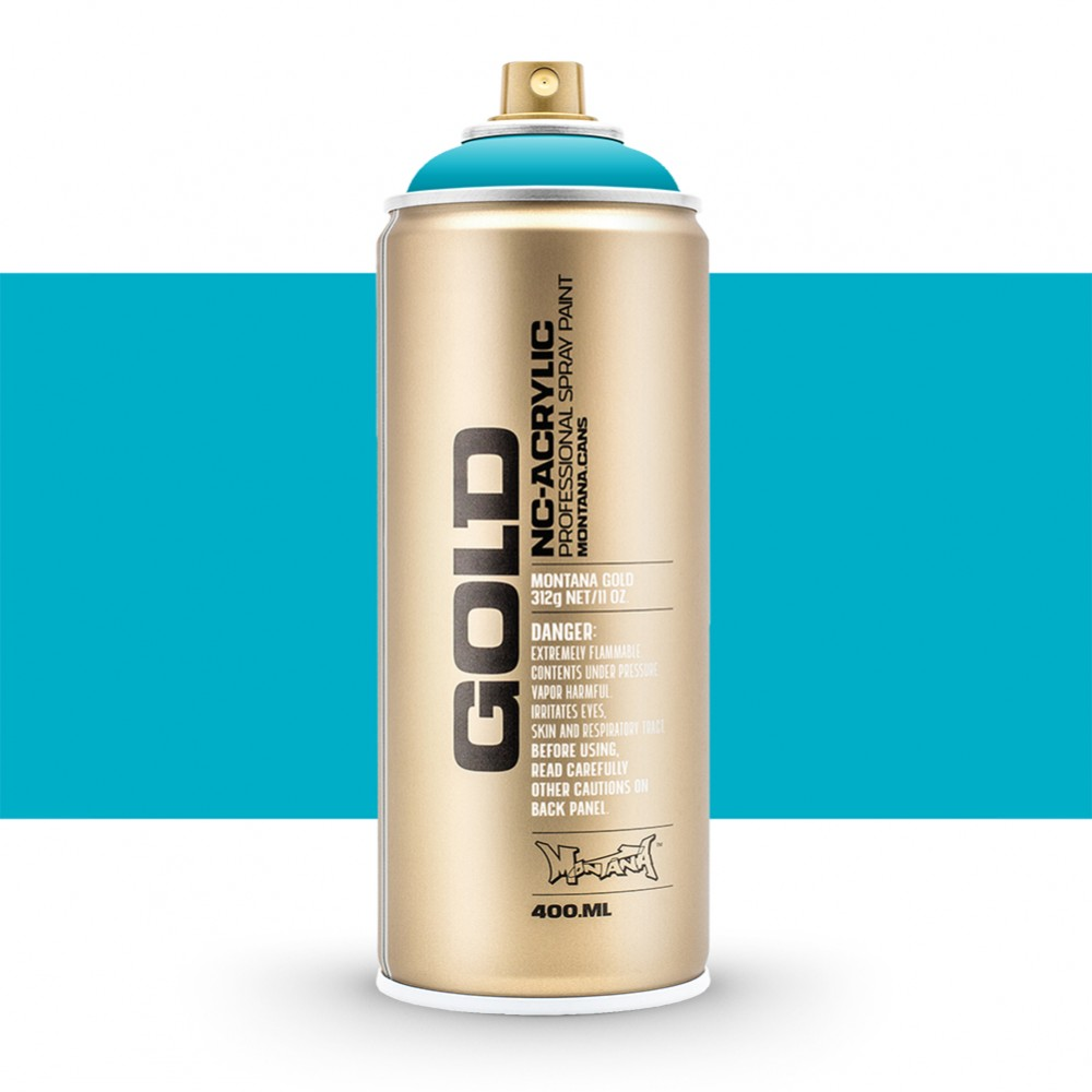 Montana : Gold : 400ml : Power 100% Cyan : Opaque : Ship By Road Only