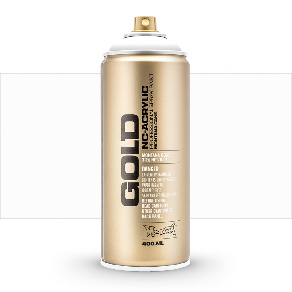 Montana : Gold : 400ml : Shock White Pure : Opaque : (Road Shipping Only)