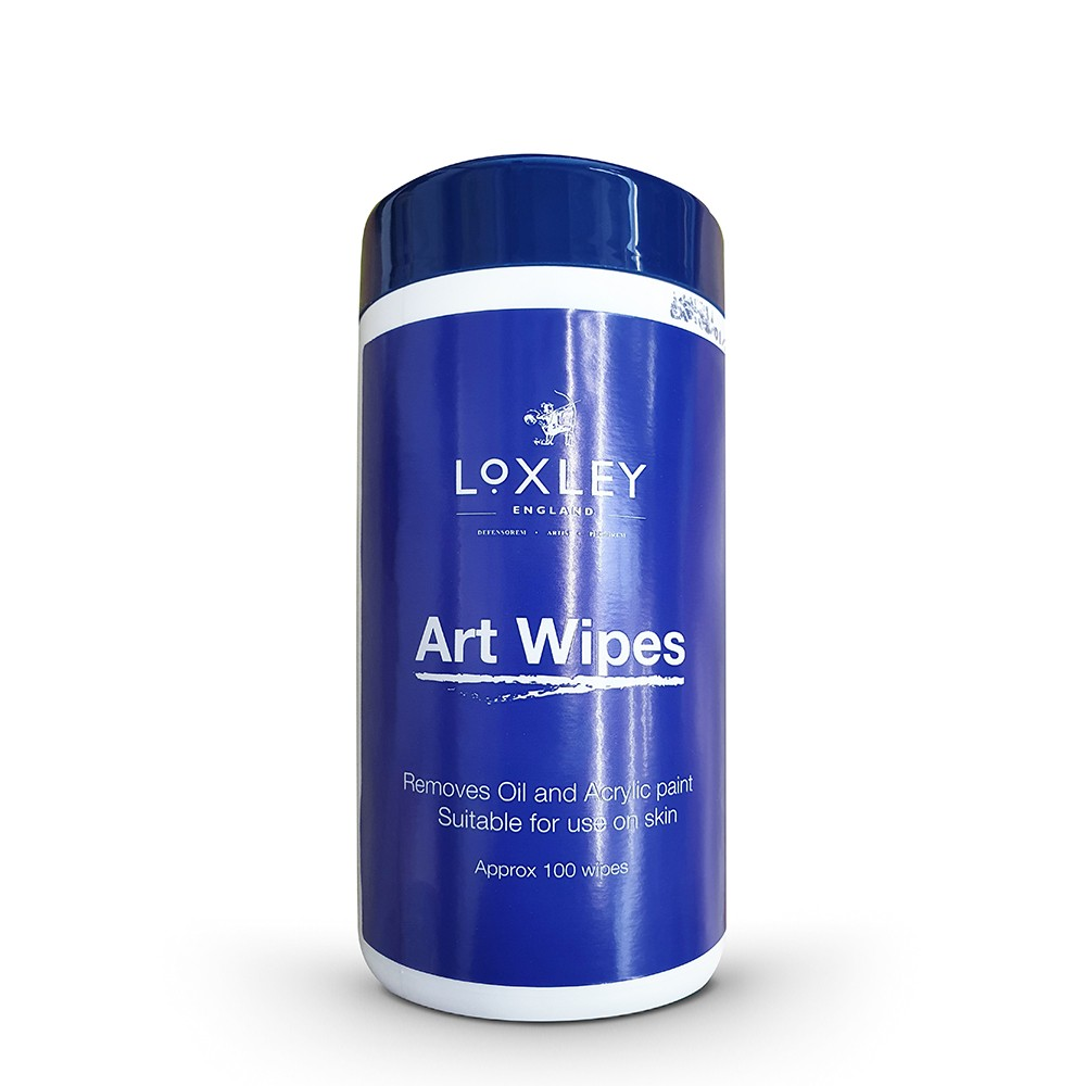 Colourful Arts : Art Wipes approx 100 wipes (13 x 18cm) cleans oil & acrylic from hands and accessories
