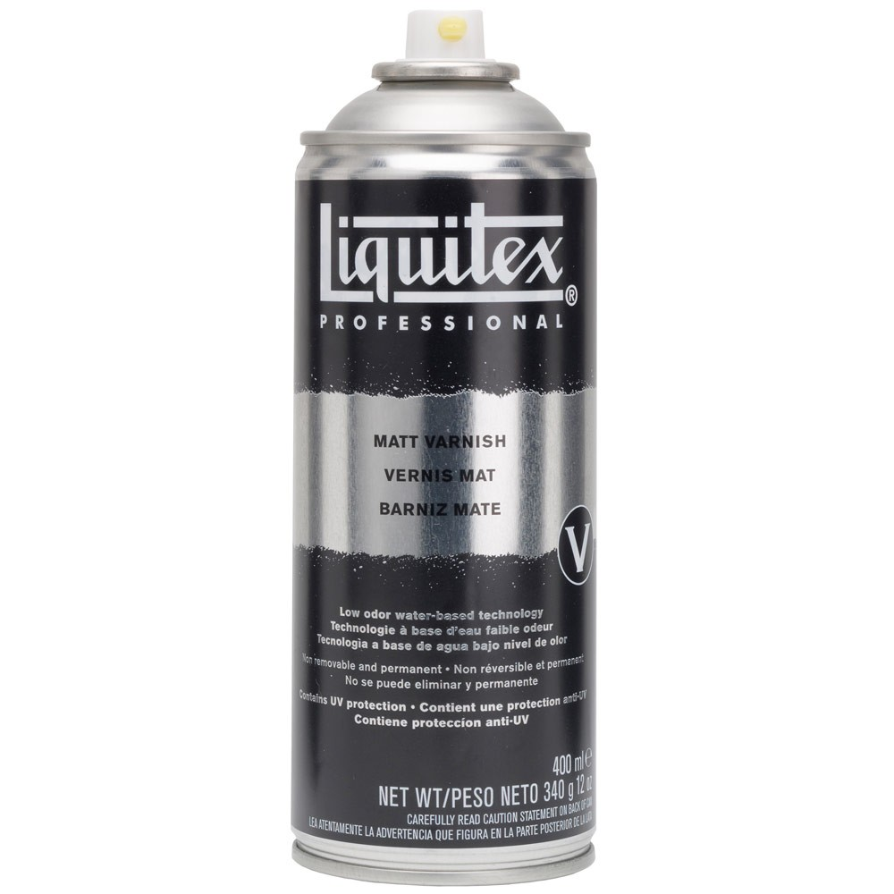 Liquitex : Professional Spray : 400ml : Varnish Matt : Waterbased Low Odour : By Road Parcel Only