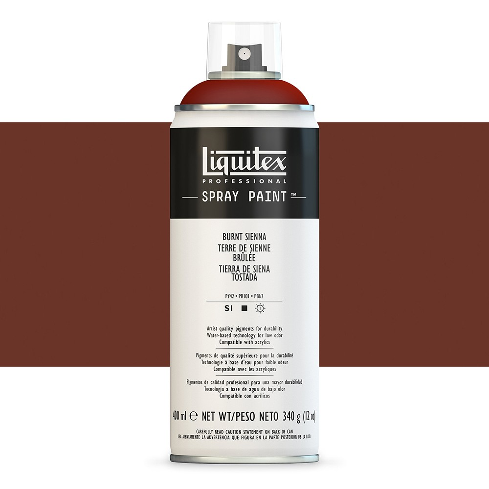 Liquitex : Professional : Spray Paint : 400ml : Burnt Sienna : Ship By Road Only