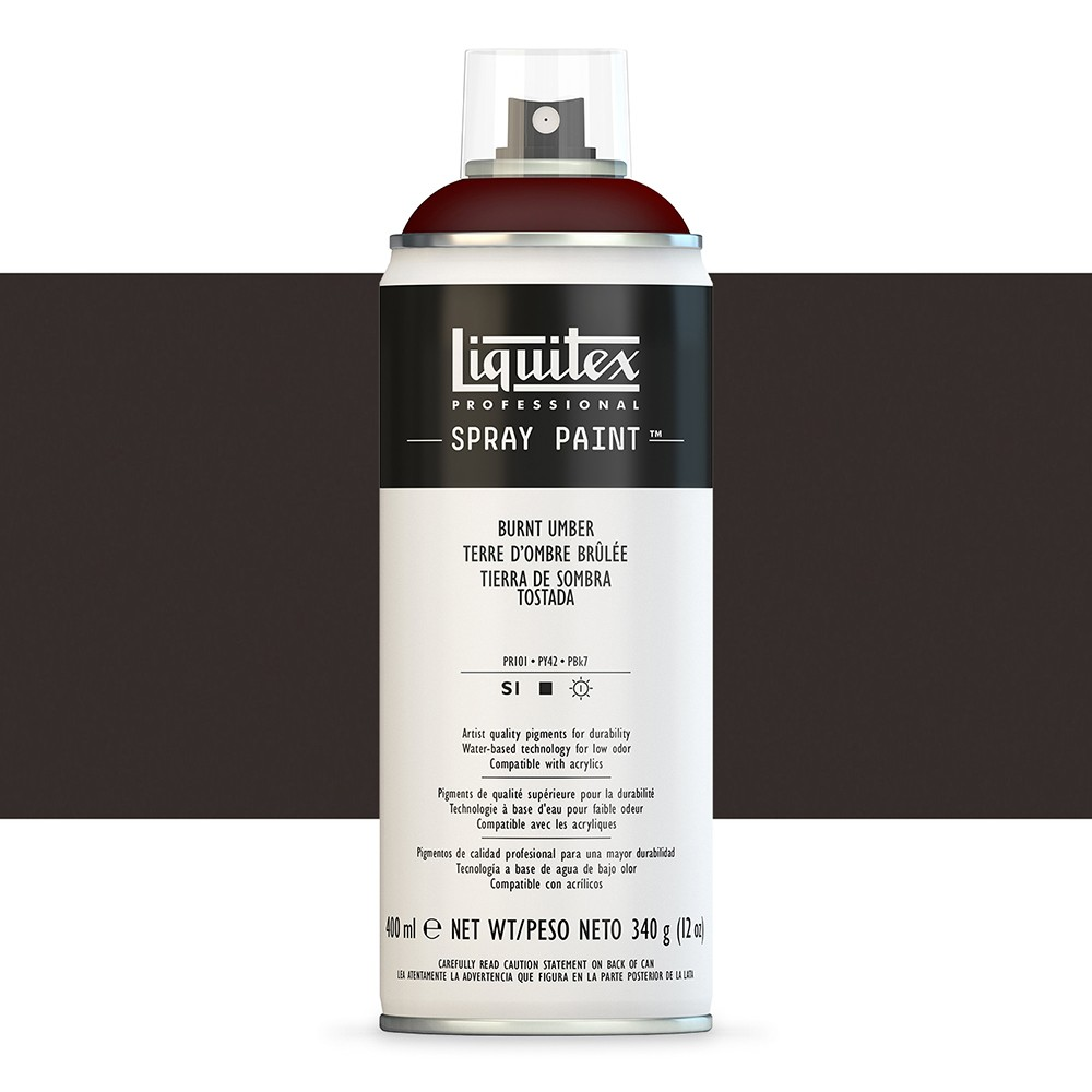 Liquitex : Professional : Spray Paint : 400ml : Burnt Umber : Ship By Road Only