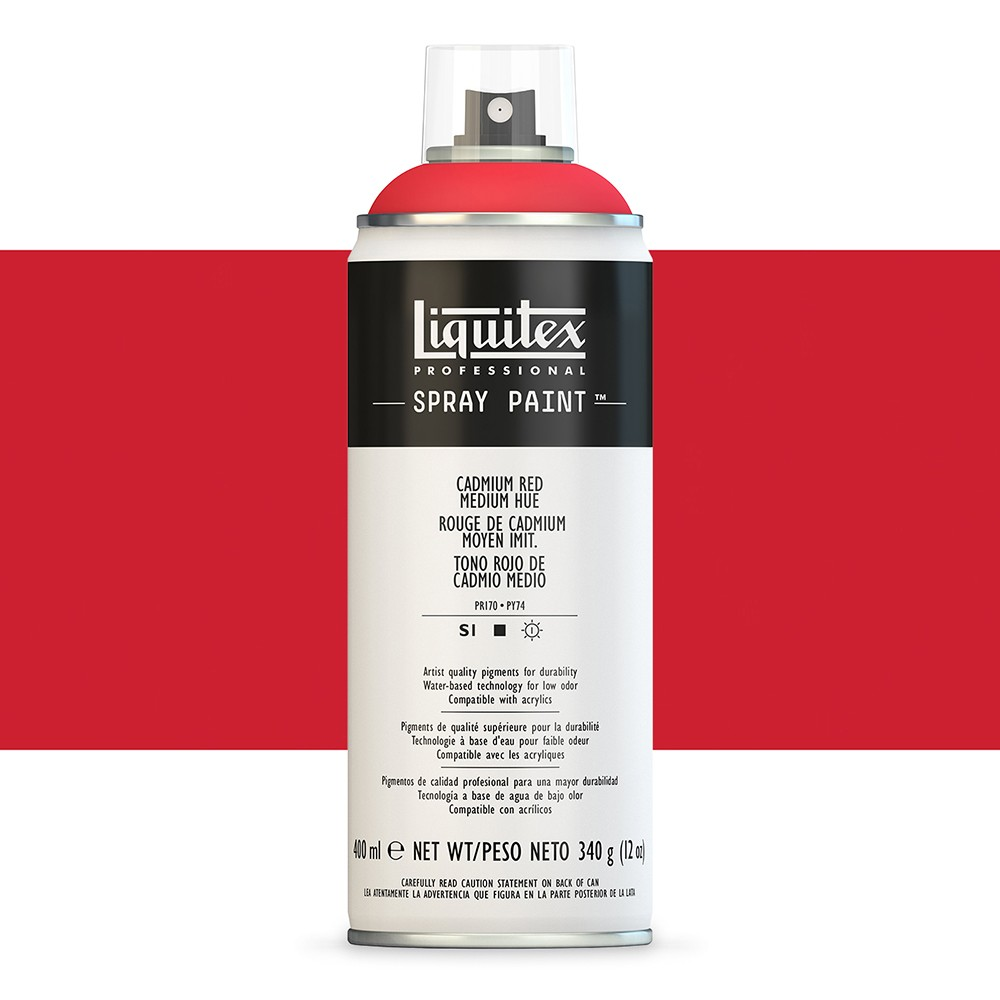 Liquitex : Professional : Spray Paint : 400ml : Cadmium Red Medium Hue : By Road Parcel Only
