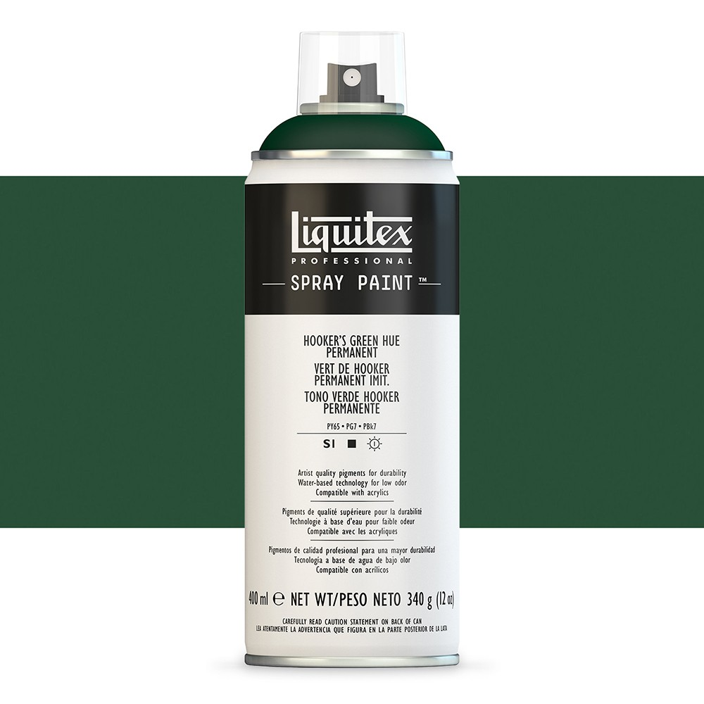 Liquitex : Professional : Spray Paint : 400ml : Hooker'S Green Hue Permanent (By Road Parcel Only)