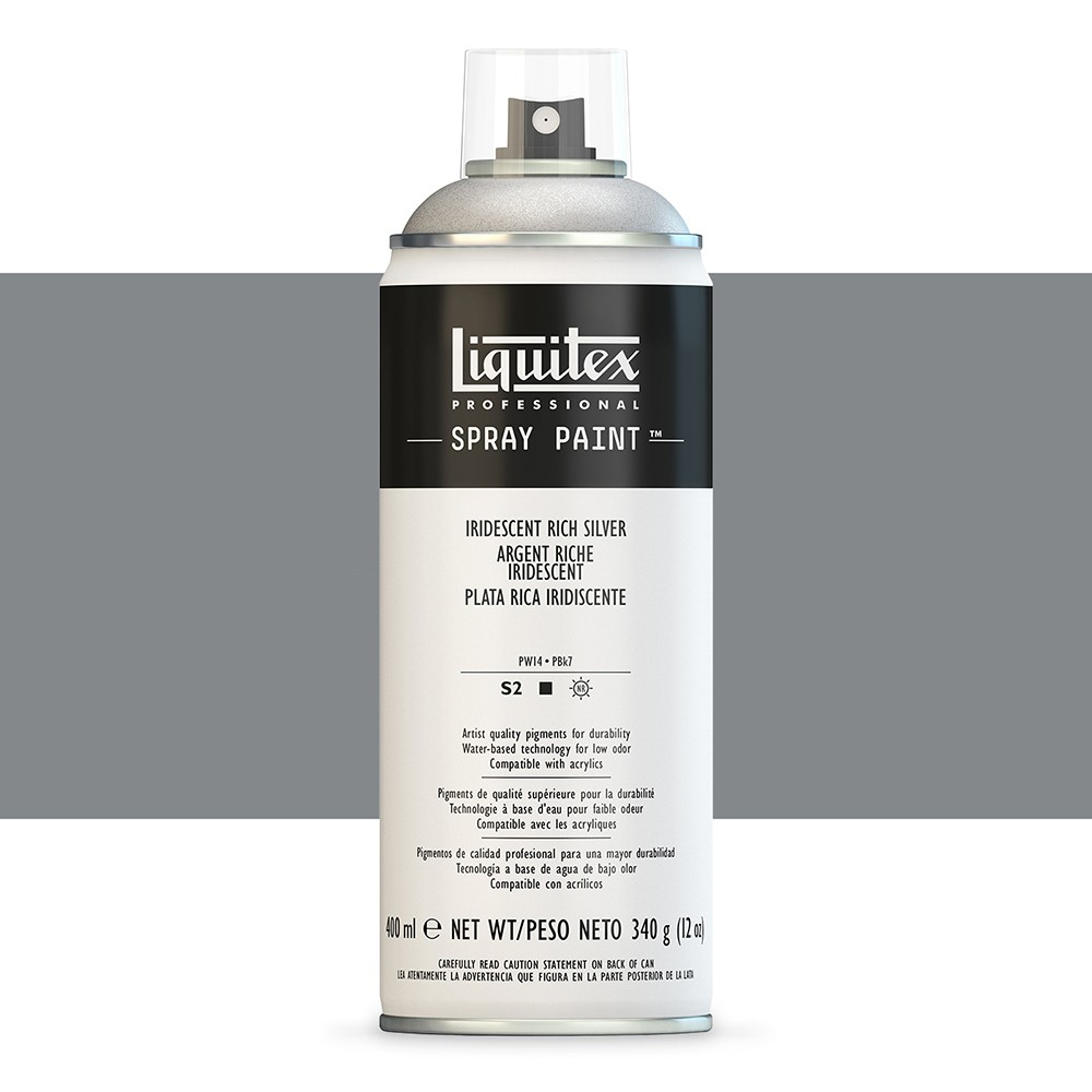 Liquitex : Professional : Spray Paint : 400ml : Iridescent Rich Silver (By Road Parcel Only)