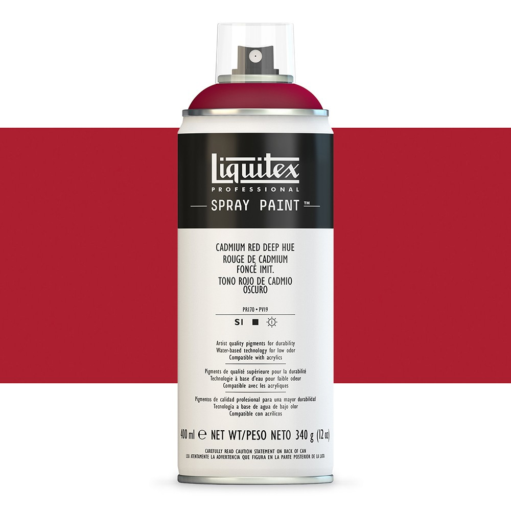 Liquitex : Professional : Spray Paint : 400ml : Cadmium Red Deep Hue (By Road Parcel Only)