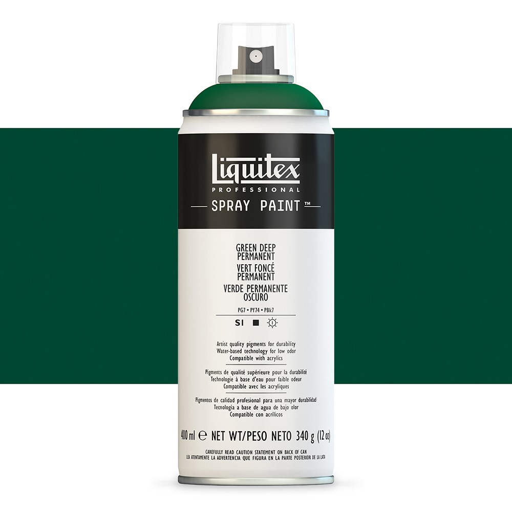 Liquitex : Professional : Spray Paint : 400ml : Green Deep Permanent (By Road Parcel Only)