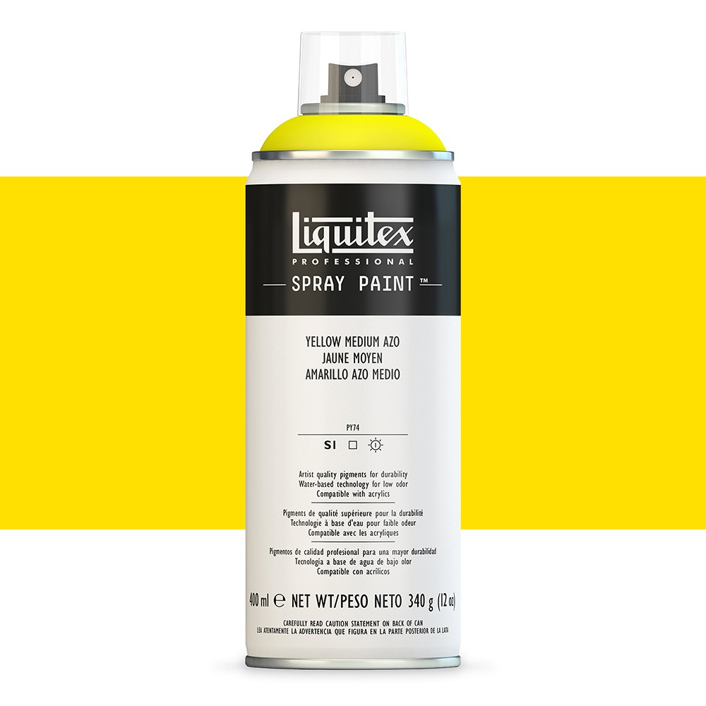 Liquitex : Professional : Spray Paint : 400ml : Yellow Medium Azo : By Road Parcel Only
