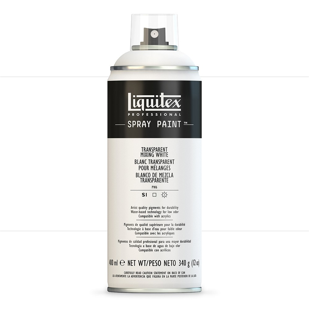 Liquitex : Professional : Spray Paint : 400ml : Transparent Mixing White : By Road Parcel Only
