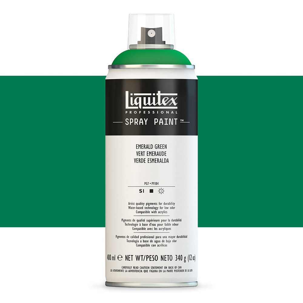 Liquitex : Professional : Spray Paint : 400ml : Emerald Green : Ship By Road Only